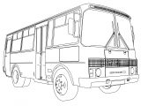 Paz 3205 Minibus Coloring Page