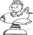 Plane Toy Boy Coloring Page