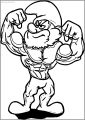 Poster Large Strong Papa Smurf Free Printable Coloring Page
