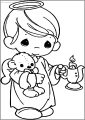 Precious Moments Candle Free Printable Coloring Page