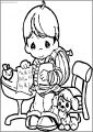 Precious Moments Coloring Page Ma Free Printable ke Write Sheet