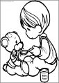 Precious Moments Eat Bear Toy Free Printable Coloring Page