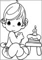 Precious Moments Happy Birthday Free Printable Coloring Page