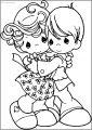 Precious Moments Hug Free Printable Coloring Page