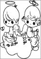 Precious Moments On Heart Free Printable Coloring Pages