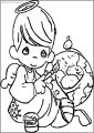 Precious Moments Paint Free Printable Coloring Page