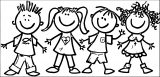 Preschool Clip Art 261 Kids Coloring Page