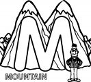 Preschool Coloring Pages Mountain