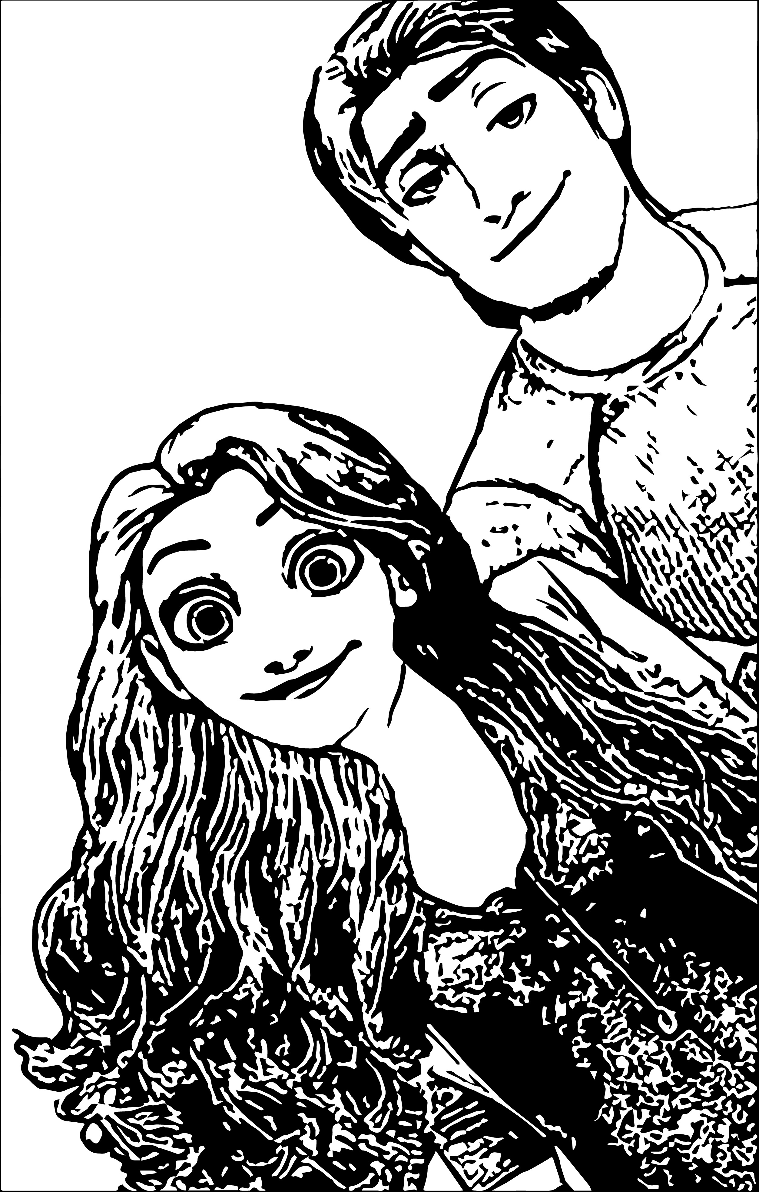 Rapunzel And Flynn Coloring Page WeColoringPage 11