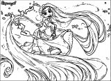 Rapunzel Tangled Disney Paints Coloring Page