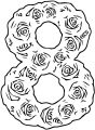Roses Number Eight Coloring Page