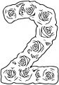 Roses Number Two Coloring Page