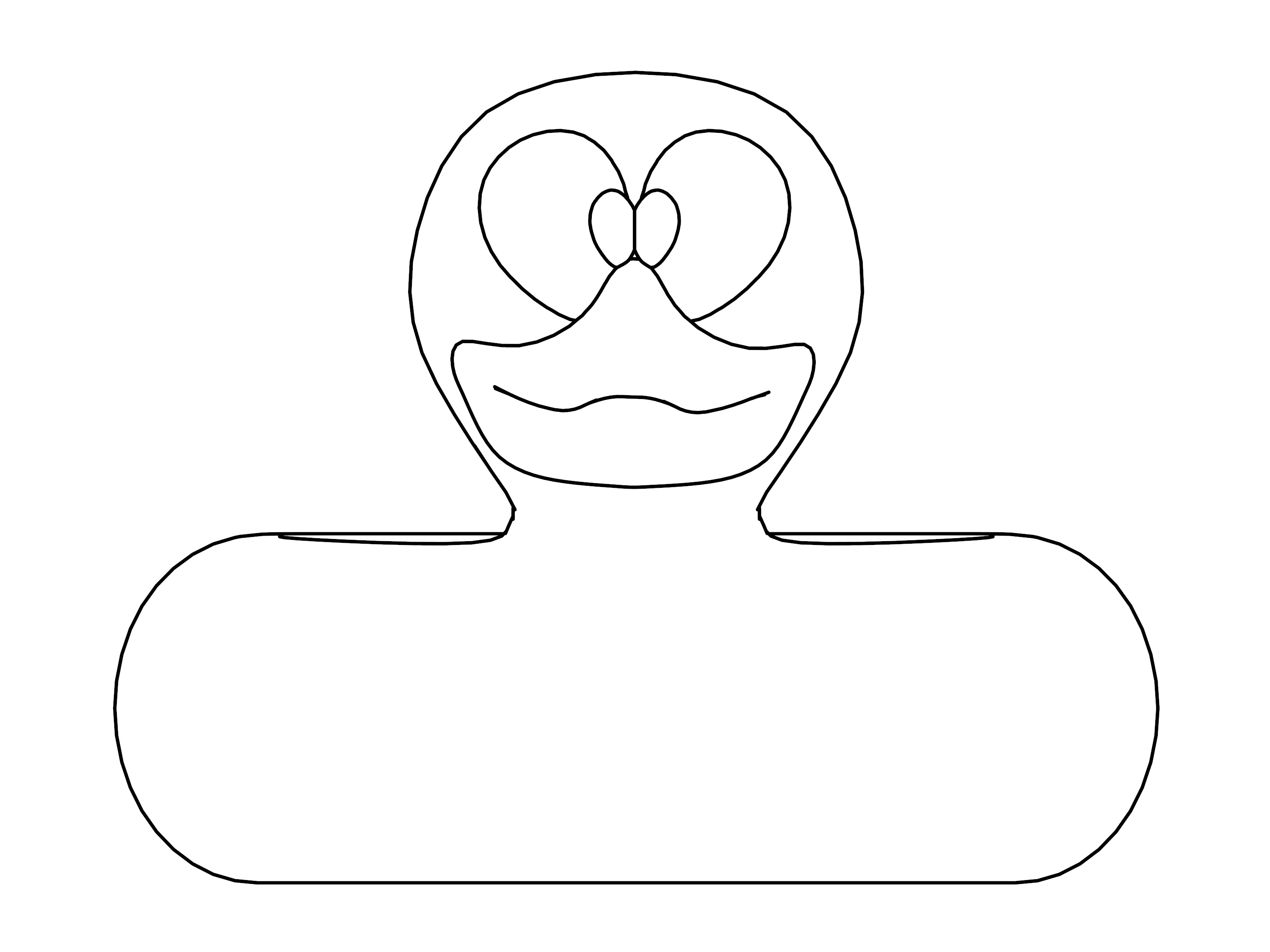 Rubber Duck Coloring Page