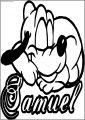 Samuel Baby Pluto Free Printable Coloring Page