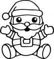 Santa Claus Chibi Cute Coloring Page