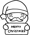 Santa Claus Christmas Card Coloring Page