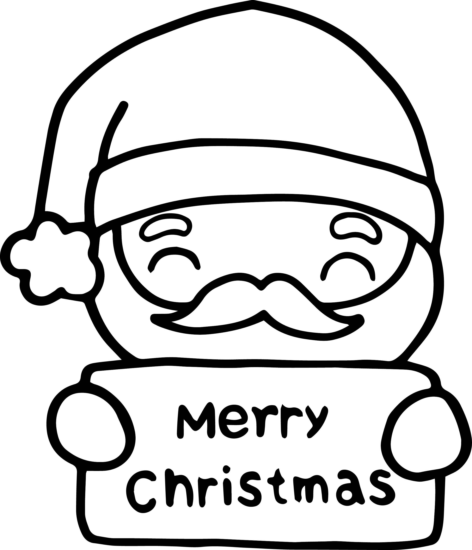 Santa Claus Christmas Card Coloring Page