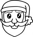 Santa Claus Face Christmas Draw Coloring Page