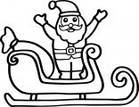 Santa Claus With Sleigh Coloring Page