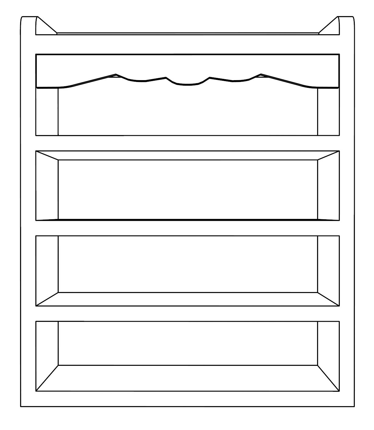 Shelf Furniture Coloring Page