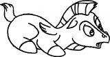 Shocking Baby Pegasus Coloring Page