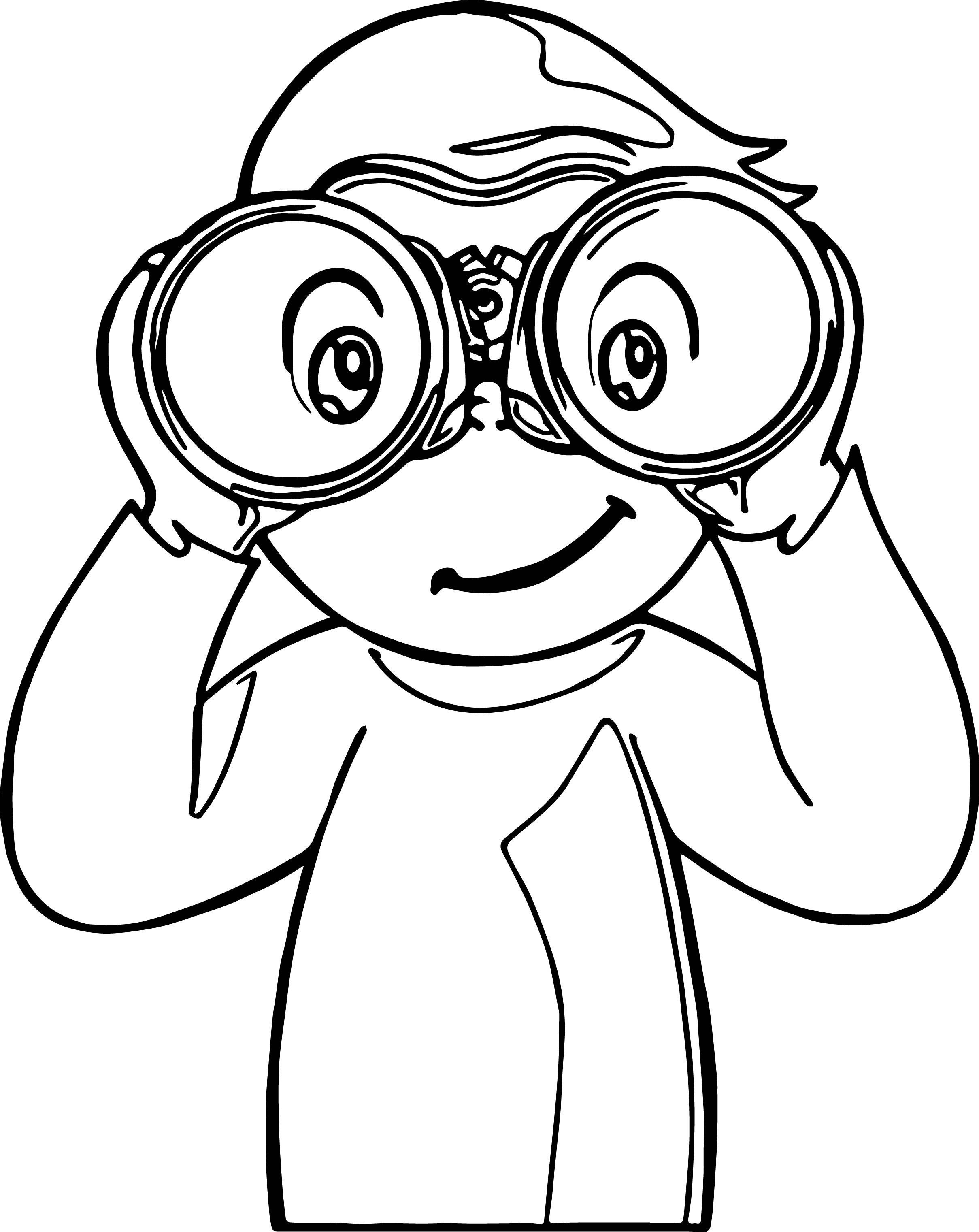 Sight Words Look Sense Monkey Coloring Page