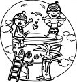 Small Aqua Park Children Coloring Page