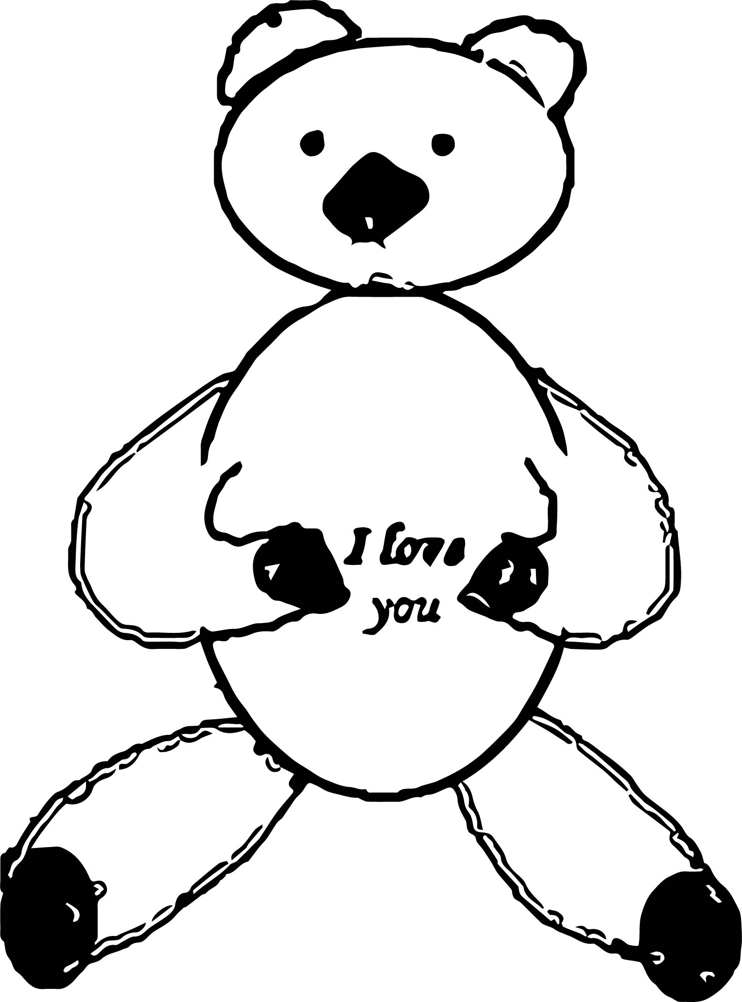 Small Bear Coloring Page (2)