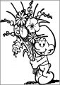 Smurf Flower Free Printable Coloring Page