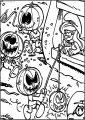 Smurfs Halloween Free Printable Coloring Page