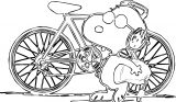 Snoopy Bike 1 Coloring Page