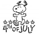 Snoopy Happy 4th Of July Cartoon Coloring Page 6