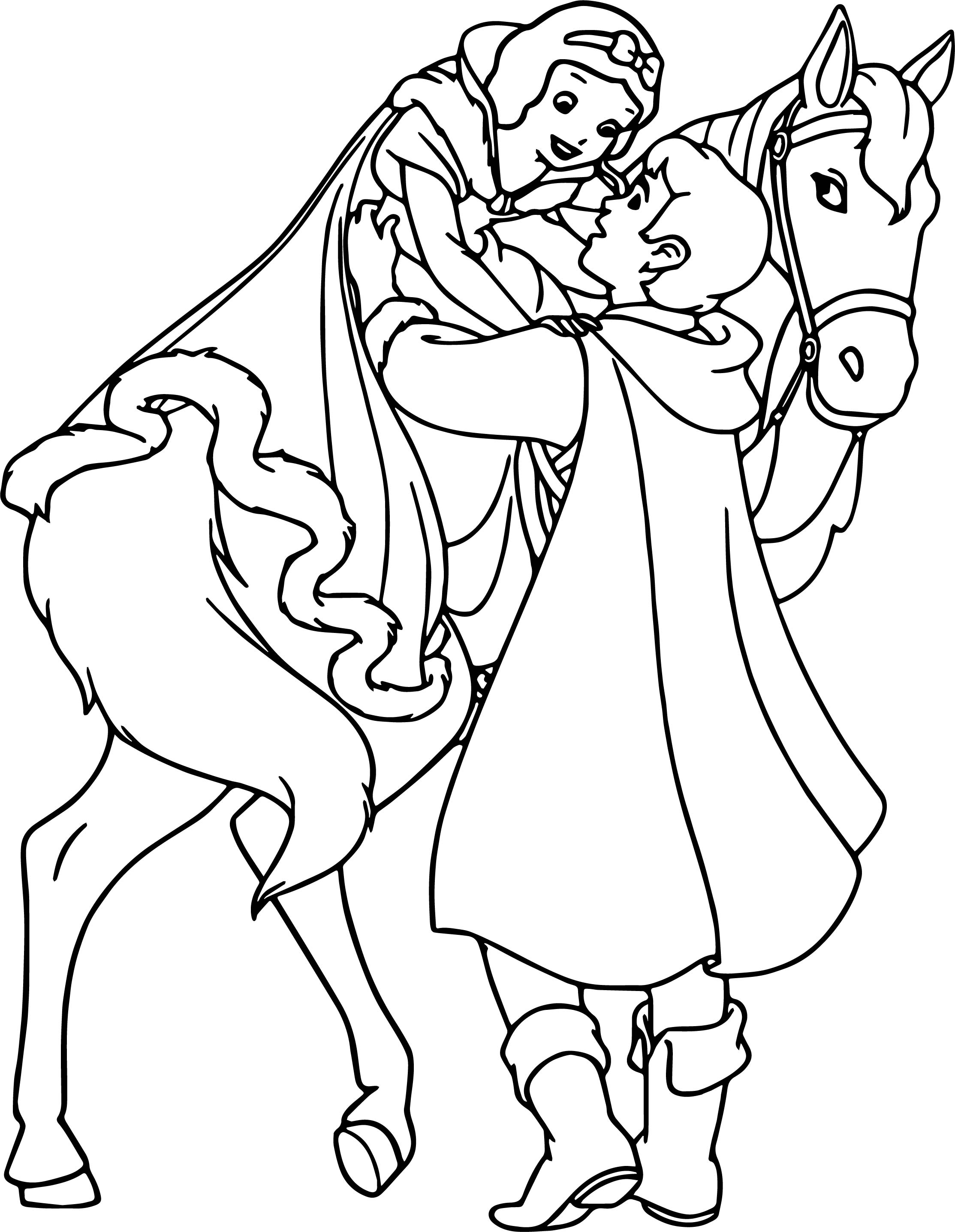 Snow White And The Prince Coloring Page 25