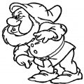 Snow White Disney Sneezy Coloring Page 02