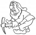 Snow White Disney Sneezy Coloring Page 07