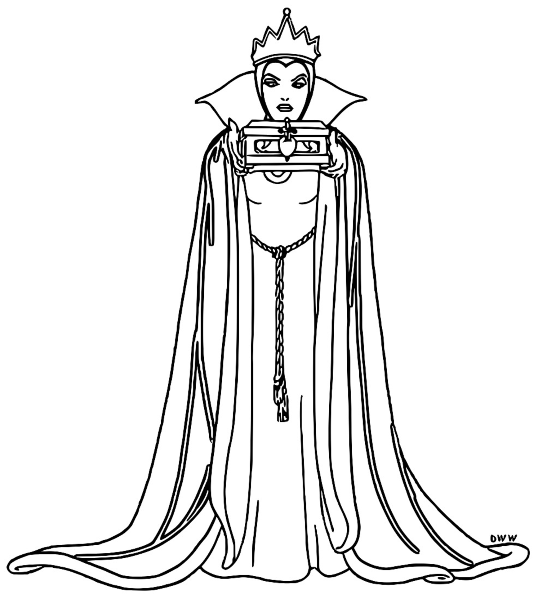 Snow White Evil Queen Witch And Huntsman Coloring Page 11