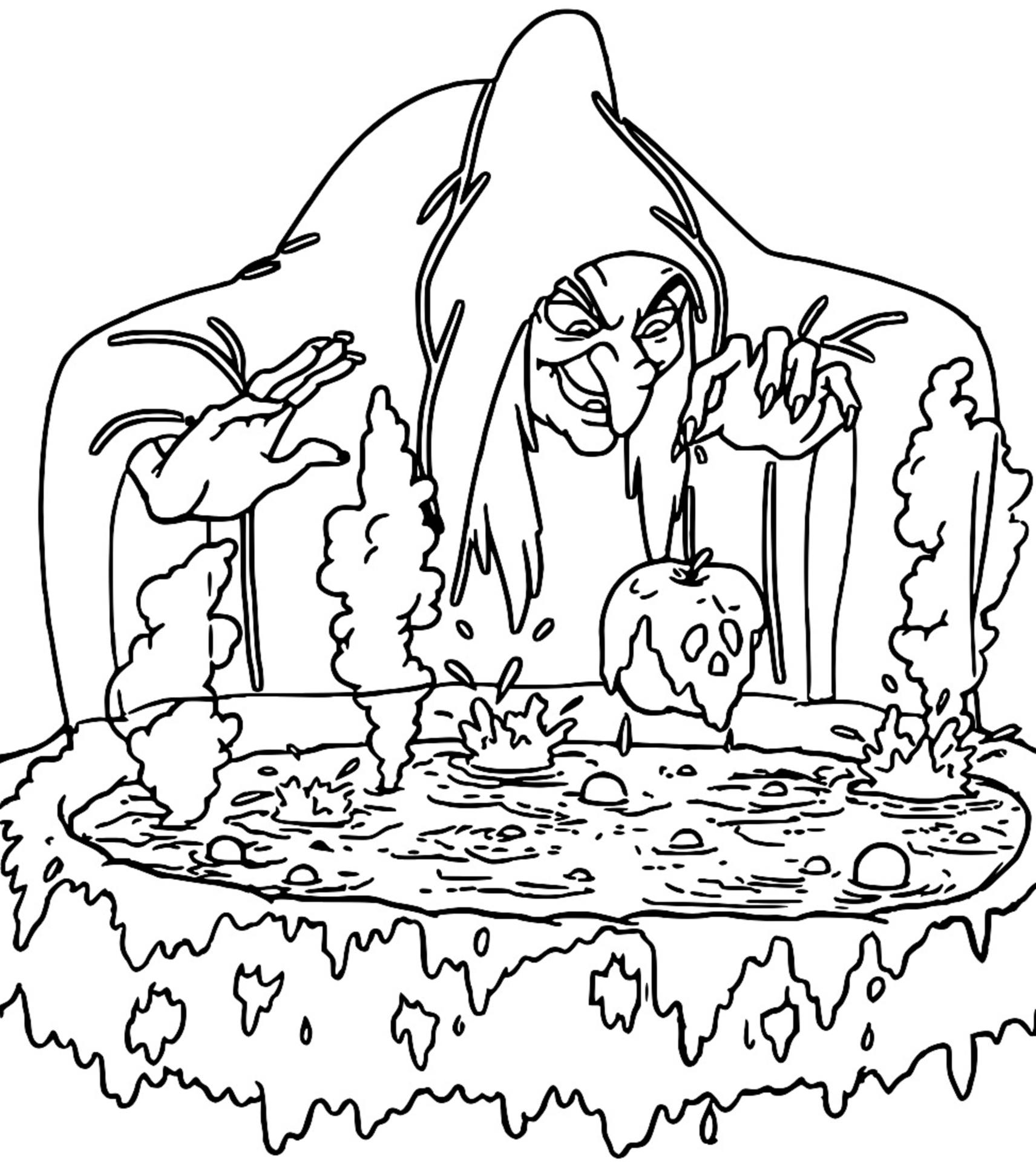 Snow White Evil Queen Witch And Huntsman Coloring Page 17