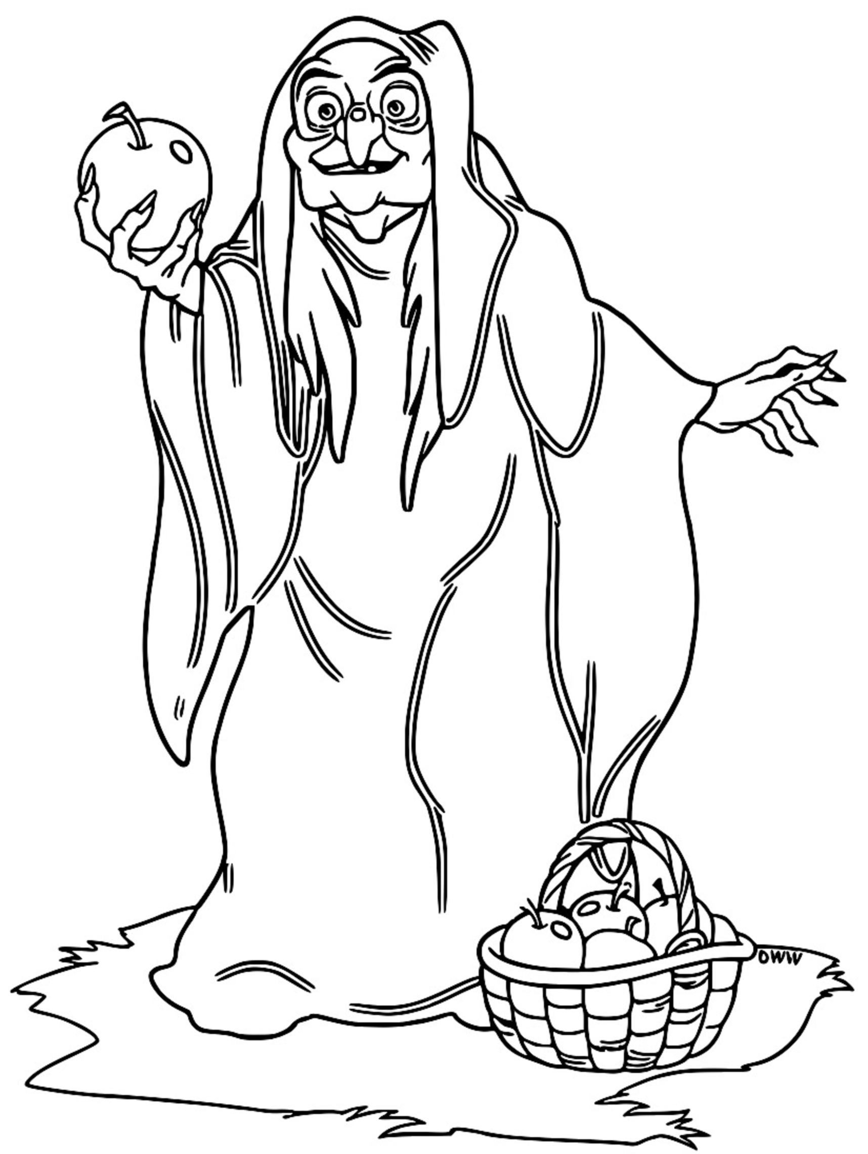 Snow White Evil Queen Witch And Huntsman Coloring Page 21