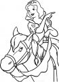 Snow White Ride Horse Look This Way Coloring Page