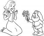 Snow White The Seven Dwarfs Coloring Page 01