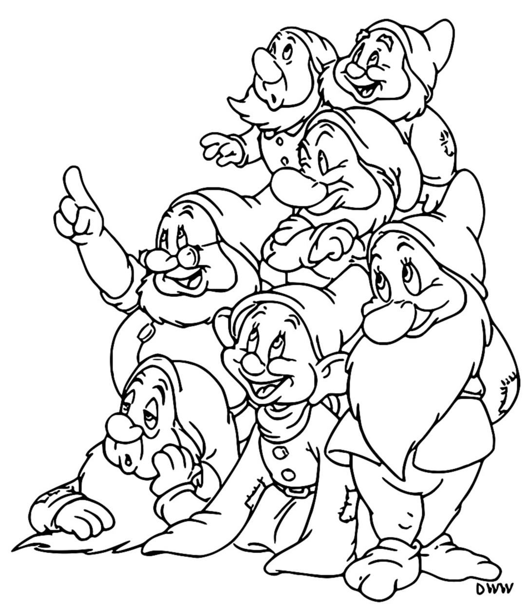 Snow White The Seven Dwarfs Coloring Page 10