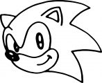 Sonic Cute Face Easy Coloring Page