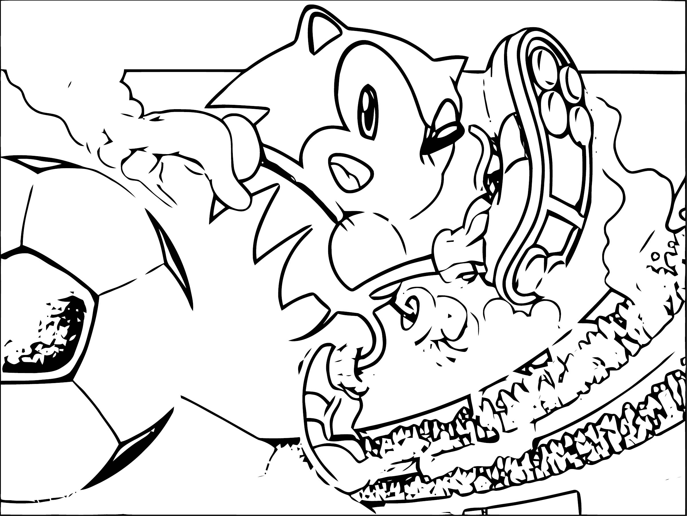 Sonic The Hedgehog Coloring Page WeColoringPage 207
