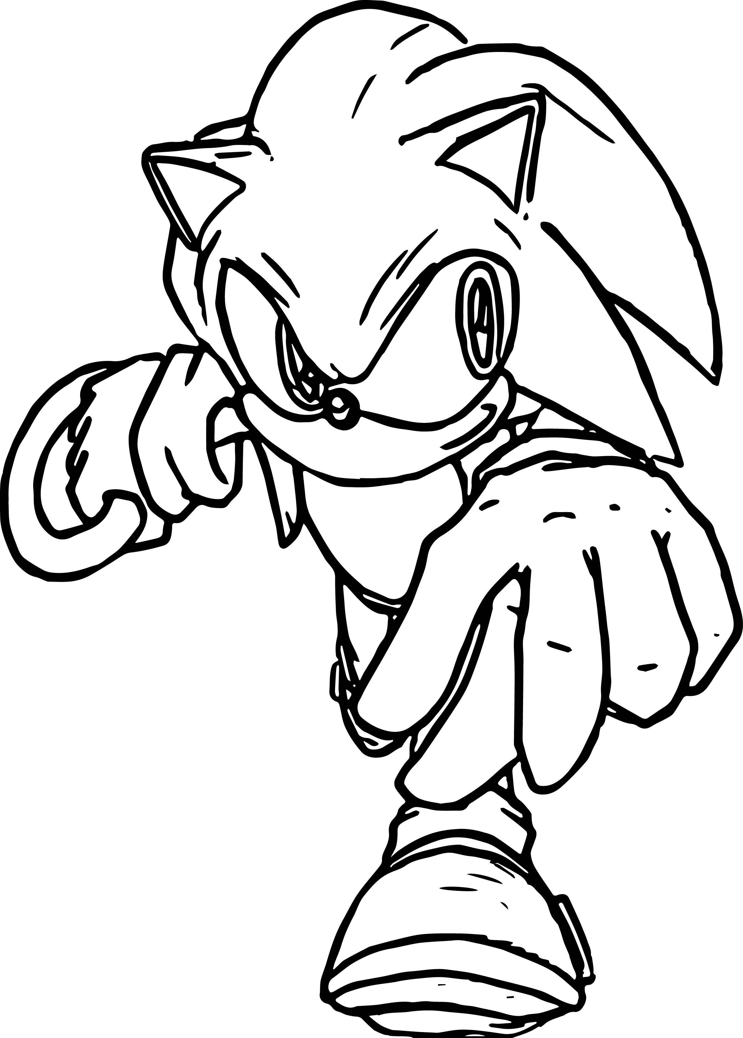 Sonic The Hedgehog Coloring Page WeColoringPage 250