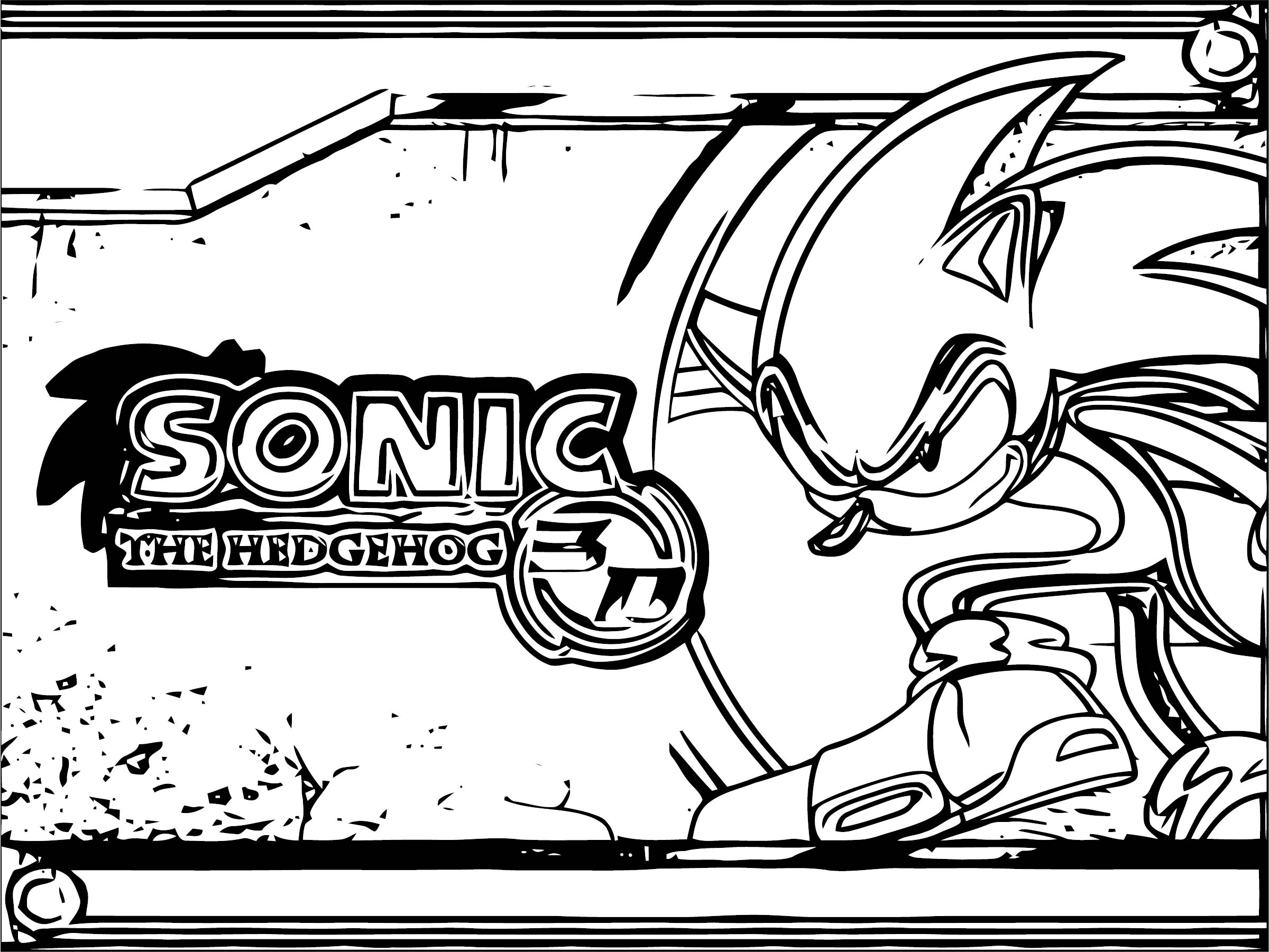 Sonic The Hedgehog Coloring Page WeColoringPage 260