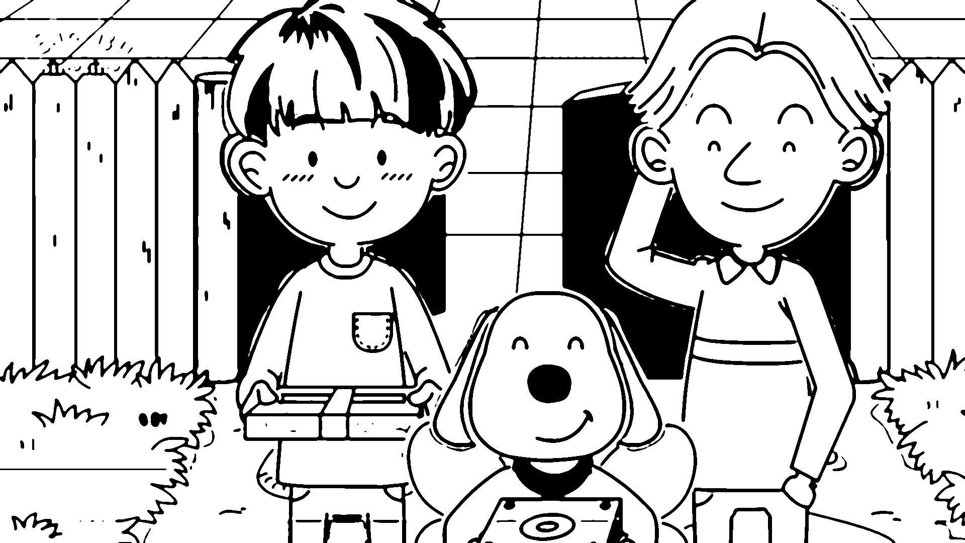 Speaking Cartoon Kids Coloring Page 01