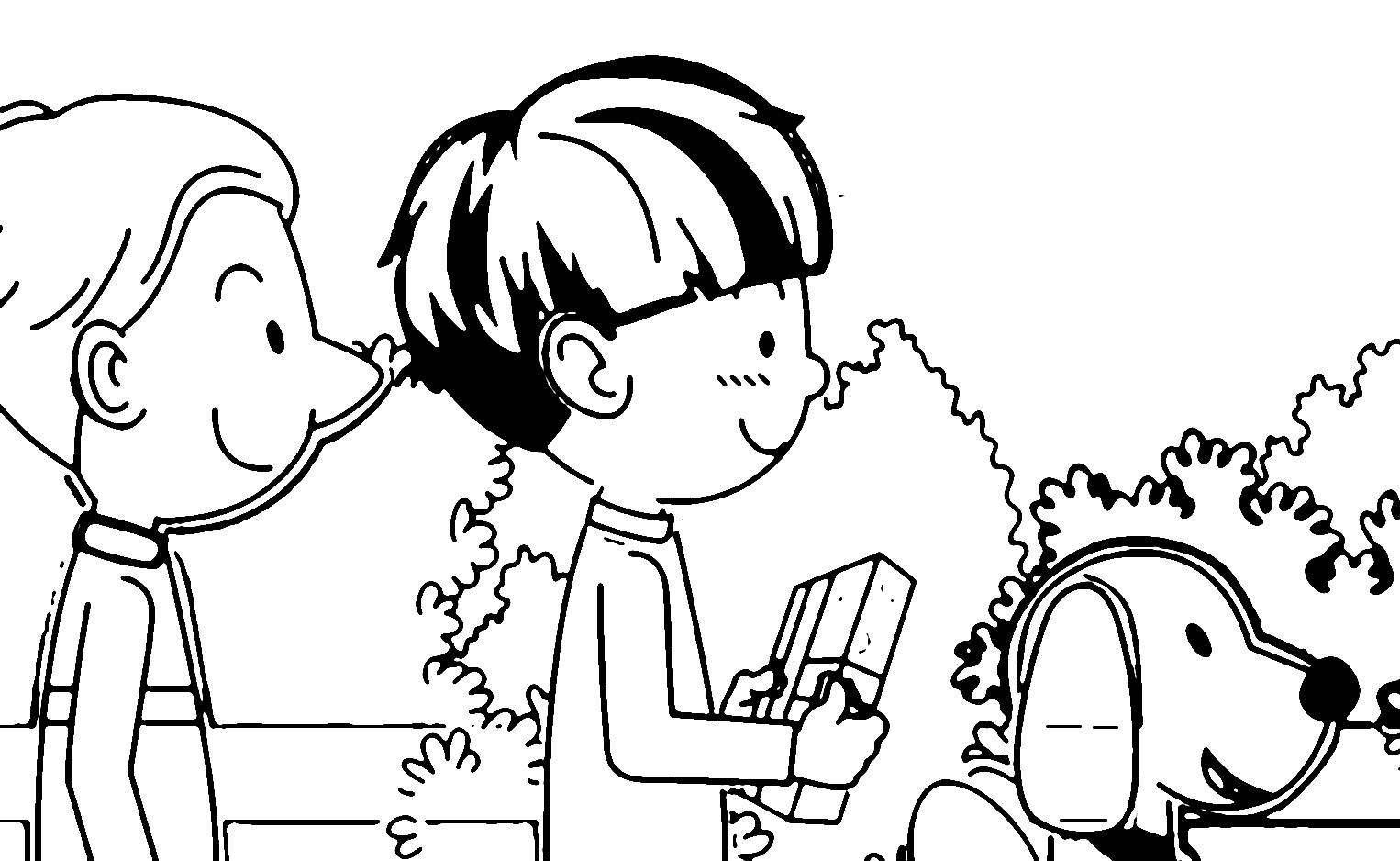 Speaking Cartoon Kids Coloring Page 05