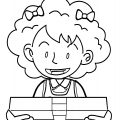Speaking Cartoon Kids Coloring Page 07