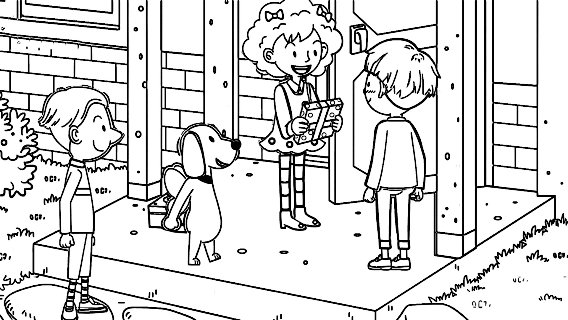 Speaking Cartoon Kids Coloring Page 08