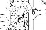 Speaking Cartoon Kids Coloring Page 10